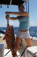 Here's Allie With A Fine Red Grouper