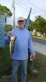 Mr. John with a nice trout caught near Snake Key