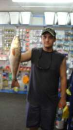 Cory Miller with a nice 4 lb redfish