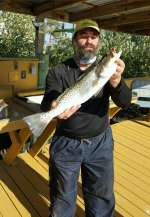 Dominic with big Cedar Key trout