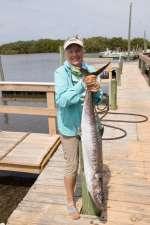 You go girl! That's a nice King Mackerel