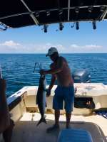 Kevin with a nice Cobia for dinner, caught with Captain John