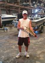 "Paulie M. At Cedar Key Marina With a 2.9 trout caught 7/16  ""Way to go Paulie"""