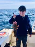 River with his 1st keeper Red Grouper