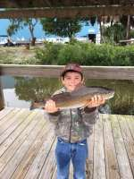 Seth H. with a keeper Redfish. Caught off of North Key