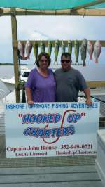 The Yorks, having a fun day in Cedar Key with Captain John
