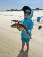 Big Man With A Cedar Key Redfish