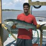 Austin with a beauty of an Amber Jack Captain John