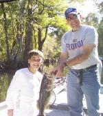 Konner with a fine Ocklawaha Largemouth Bass