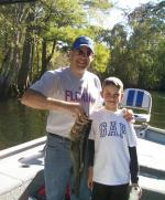 Mason with a fine Ocklawaha Largemouth Bass