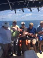 Cambell crew with a nice catch  of Cedar Key Red Snapper