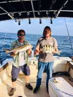Captain John and Roger double up offshore fishing