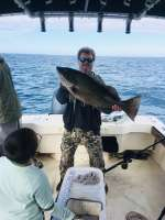 Captain John with a 35' 25lb whopper, just saying
