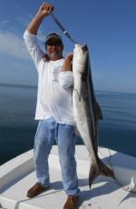 Captain Nick With A Yankeetown Florida Cobia