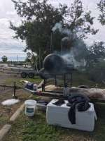 Cooking for the Easter cook out for our customers & crew