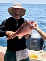 Jordan with a nice Red Snapper, released unharmed.