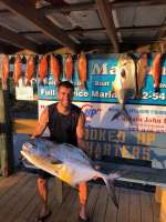 Marc with another awesome catch and some good eats too