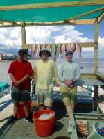 Martin & Crew with some nice snapper caught with captain John