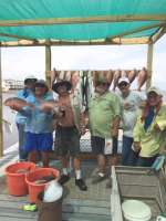 Mike and crew on snapper with Captain John