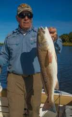 Mr. K. Showing Off His Nice Cedar Key Redfish