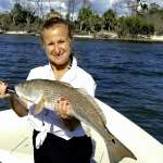 Mrs. Rhoden with a nice redfish