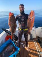 Our Aquaman went deep for some Cedar Key Red Grouper, nice shooting