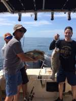 Gag grouper double header, released unharmed
