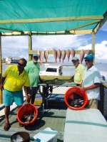 Salt springs crew with a nice catch of the day with Captain John