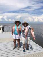 Steve & Susan with some nice snapper with Captain John