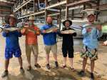 Tate's crew showing off a great day fishing