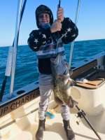 William out fishing with Hooked up Charters
