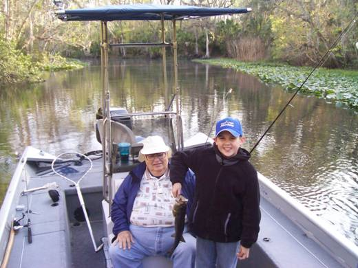 Anthony And Grand Dad Tom Sr With An Ocklawaha Bass