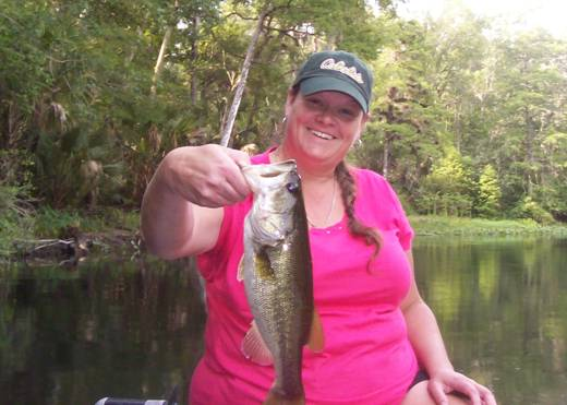 Penelope R. with a nice early morning Ocklawaha Largemouth Bass