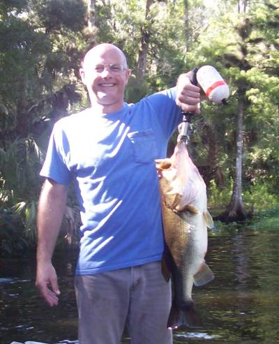 Greg Smith With An 10 Pound Oklawaha Large Mouth
