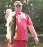 "Jason ""Cajun Red"" Worth another Ocklawaha Largemouth Bass"