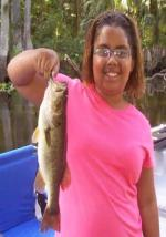 11 year Old Alexis Showing Off Another Early Morning Ocklawaha Bass.