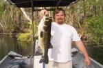 "Mr. Jason ""Cajun Red"" Worth with yet another Ocklawaha Largemouth, 7.9 lbs. & 24""long."