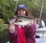 Mrs. Cheryl with an Ocklawaha Largemouth