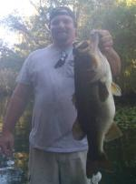 Jason Worth of Ocala with an 8lb. Lunker ...