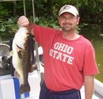 Jason with an 6 lb. Trophy Bass