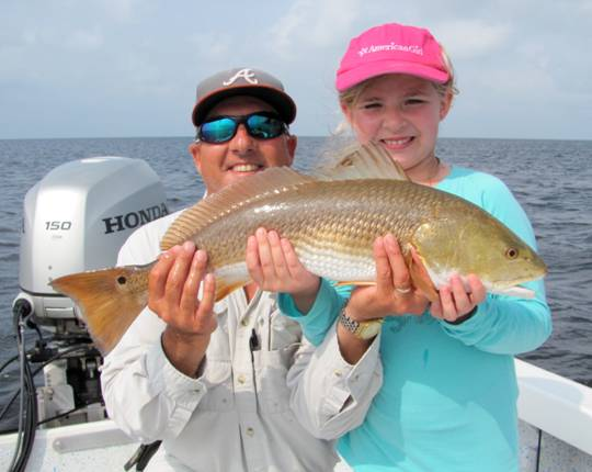 Courtney With A Steinhatchee Red She Helped Captain Steve Reel In