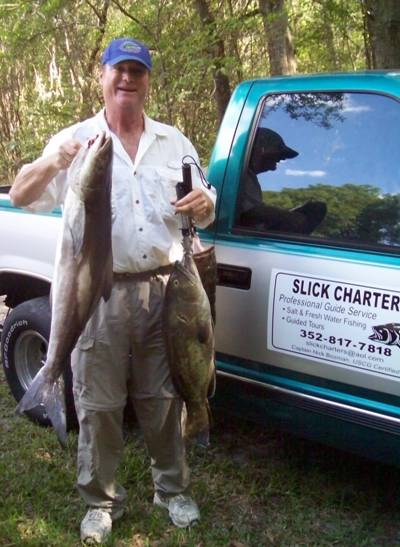 A cobia & grouper caught with Captain Nick. Now somebody has to clean some fish
