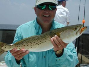 Captain Steve With A Fine Big Bend Trout