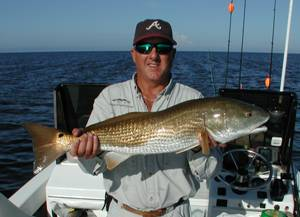 Captain Steve With A Redfish to Brag About