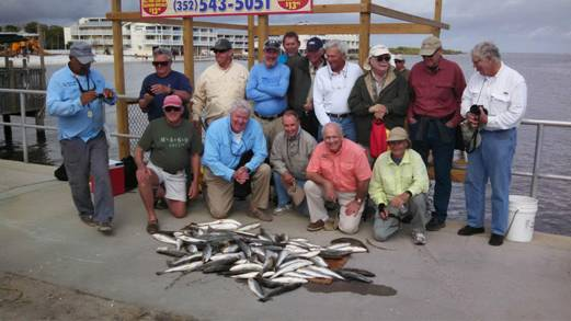 Capt Kyle, Denny and crew with a bunch of nice fish