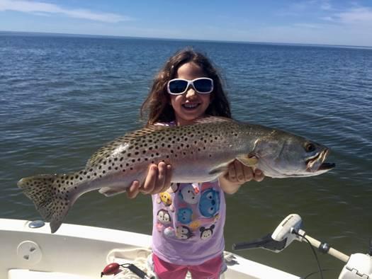 A huge Cedar Key trout, you go girl