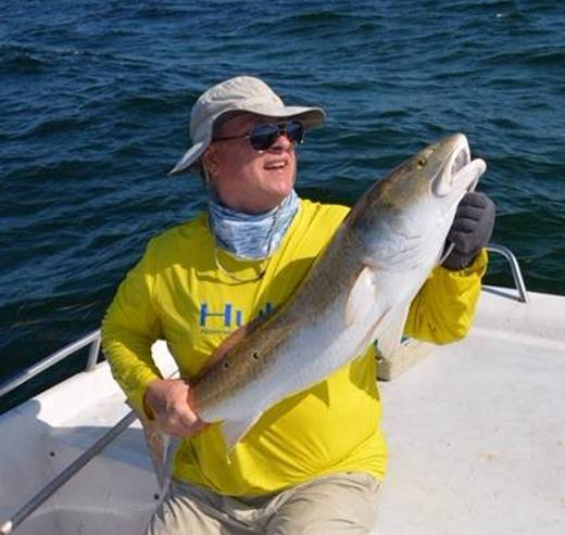 A Huge Cedar Key Redfish, caught & released. Too big to keep 🙁