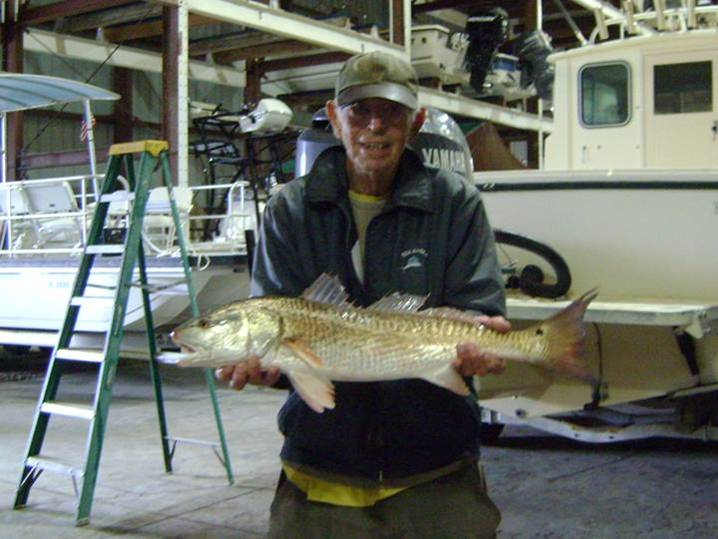 Mr. Weaver is now in the lead for biggest Redfish 3.75lbs & 27 inches