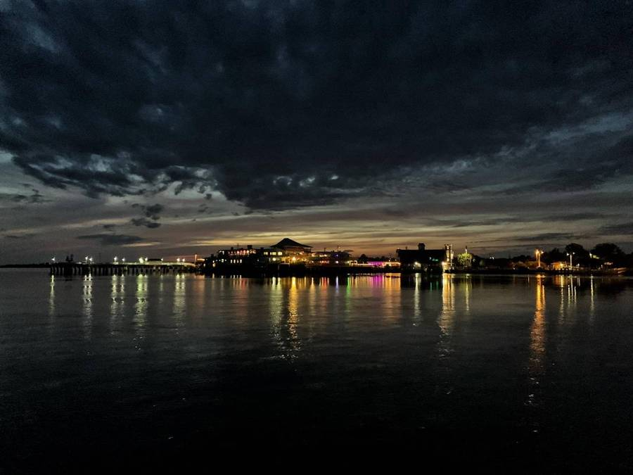 Cedar Key Florida At Night