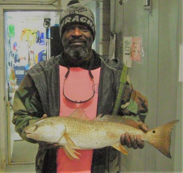 Maurice with a nice Redfish for the contest